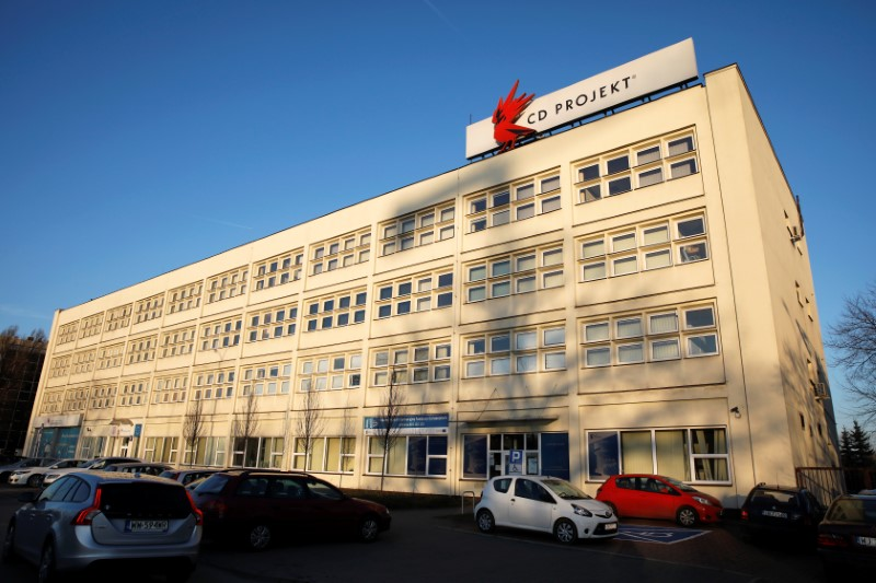 Cd Projekt headquarters is pictured in Warsaw