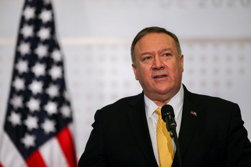 FILE PHOTO: U.S. Secretary of State Pompeo attends anti-terrorism meeting in Colombia