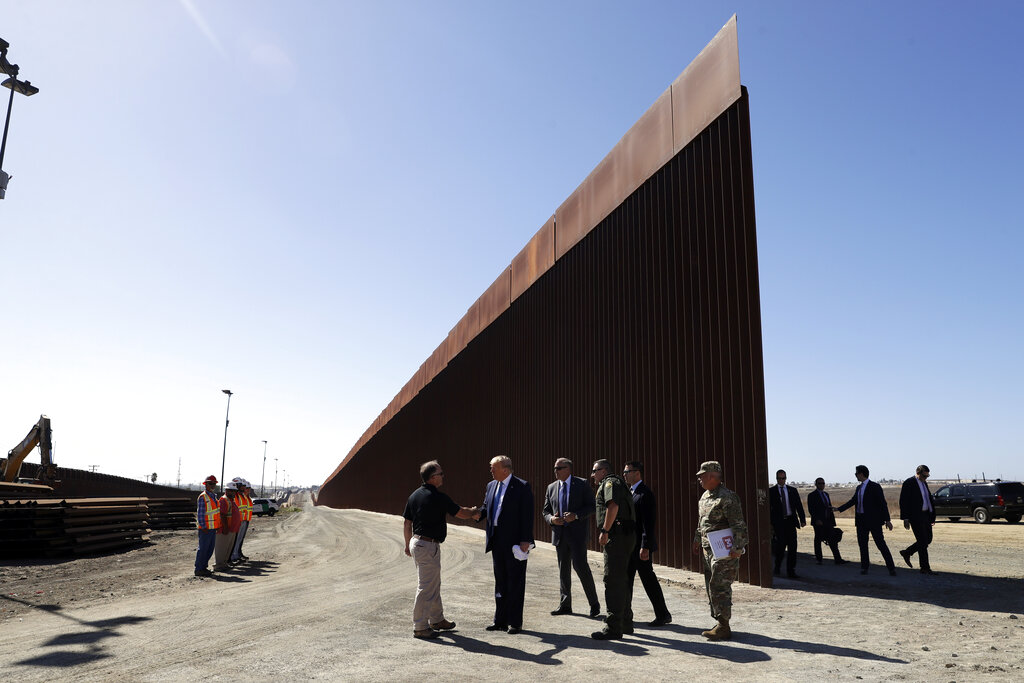 DHS seeks Pentagon funds for 270 miles of border wall