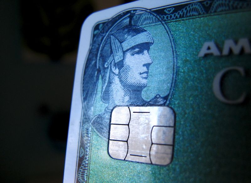 A computer chip is seen on a newly-issued credit card in this photo illustration taken in Encinitas, California