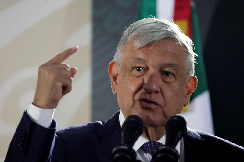 Mexico's President Andres Manuel Lopez Obrador speaks during a news conference in Ciudad Juarez