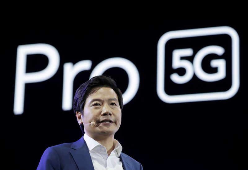 Xiaomi founder and CEO Lei Jun attends a product launch event of Xiaomi Mi9 Pro 5G in Beijing