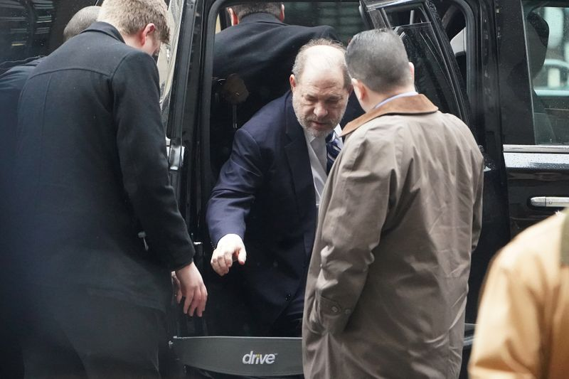 Film producer Harvey Weinstein arrives at  New York Criminal Court during his ongoing sexual assault trial in the Manhattan borough of New York City