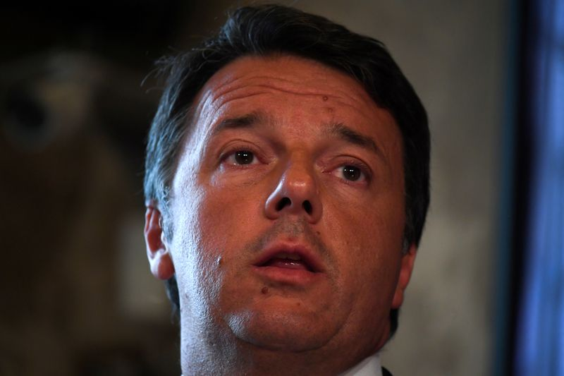 FILE PHOTO: Former Italian Prime Minister Matteo Renzi speaks at a news conference regarding his proposal for a transitional Italian government in Rome
