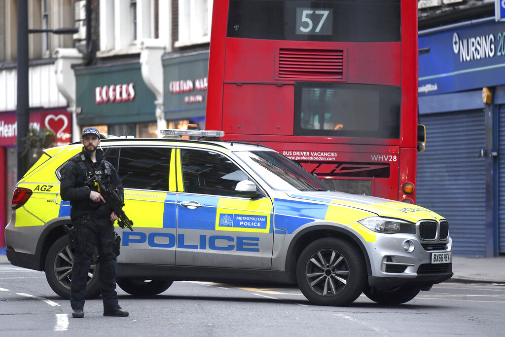 London police shoot man dead after 'terrorist-related' stabbings