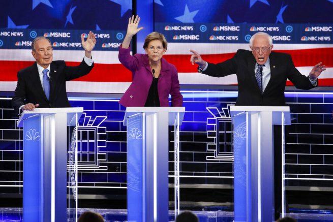 Sanders, Warren Come For Bloomberg At Democratic Debate
