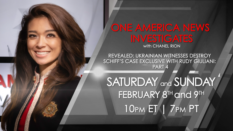 One America News to Debut Special Featuring Exclusive Interviews with Former Ukrainian Officials and Rudy Giuliani, Debunking Schiff's Impeachment Narrative
