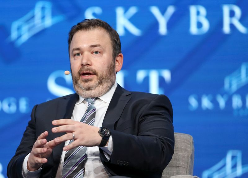 Founder and CIO at Saba Capital Management Weinstein speaks during the SALT conference in Las Vegas