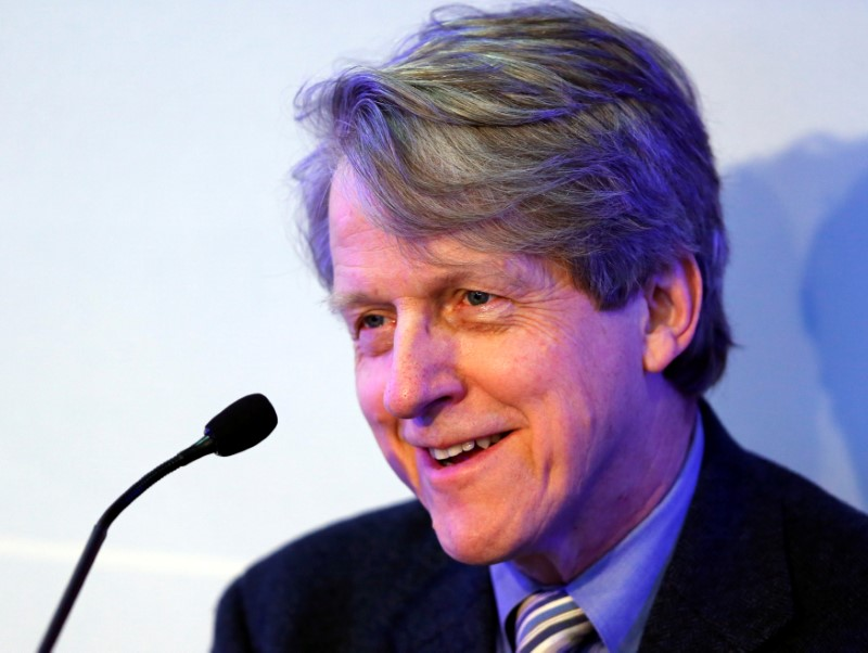 FILE PHOTO: Shiller Sterling Professor of Economics at Yale University attends session of World Economic Forum in Davos