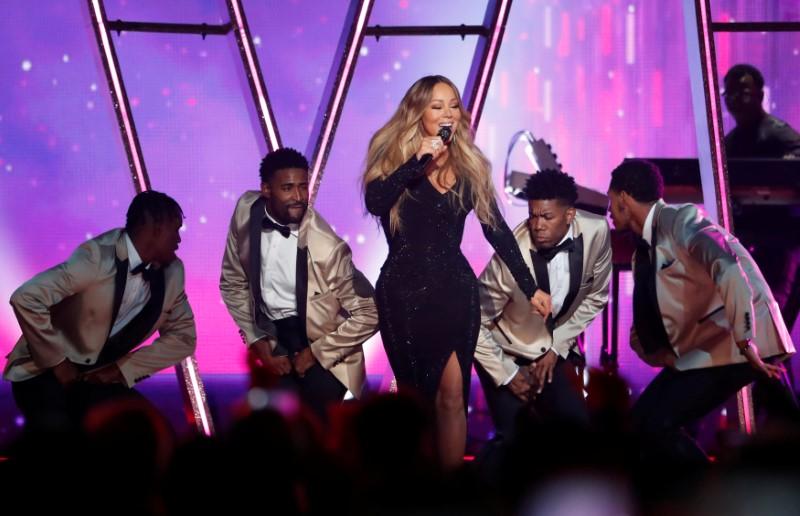 FILE PHOTO: Mariah Carey performs at 2019 Billboard Music Awards show - Las Vegas, Nevada, U.S