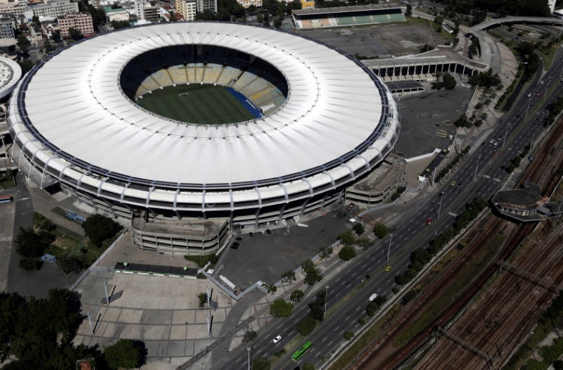 An aerial view of Maracana stadium during the coronavirus disease (COVID-19) outbreak, in Rio de Janeiro