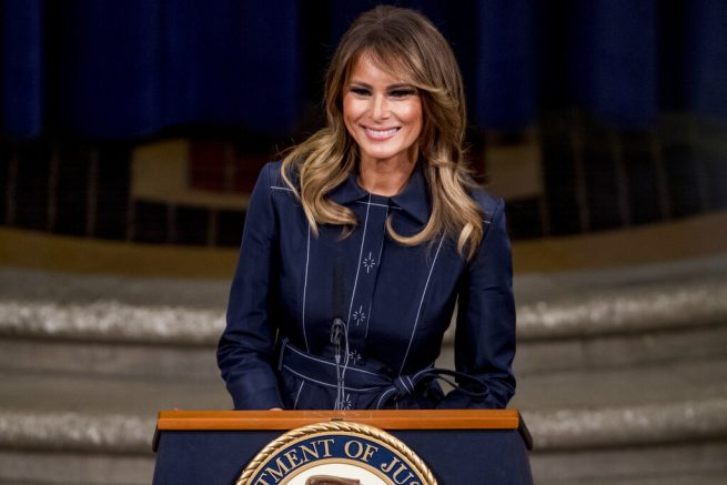 Melania Trump Provides Update on Construction of Tennis Pavilion at White House