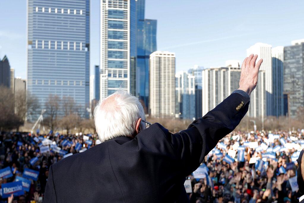 Biden looks to pad lead over Sanders