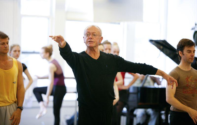 Wilhelm Burmann teaches class at Steps on Broadway studio in New York City