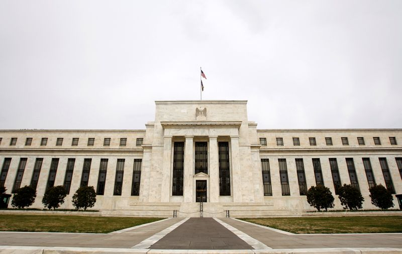 FILE PHOTO: The U.S. Federal Reserve building is pictured in Washington