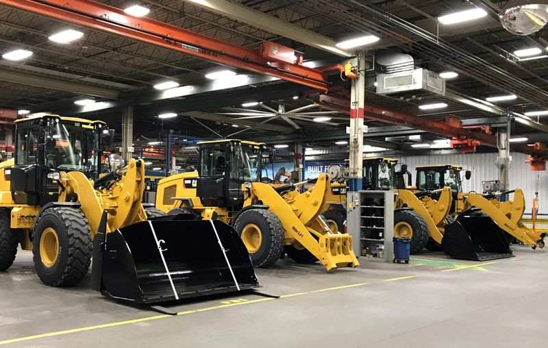 FILE PHOTO: Caterpillar's small wheel loader assembly plant is pictured in Clayton