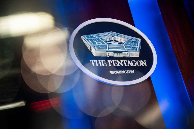 The briefing room at the Pentagon in Arlington, Virginia