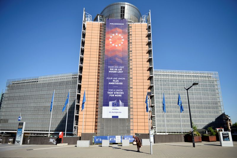 Outside view of the European Commission headquarters in Brussels