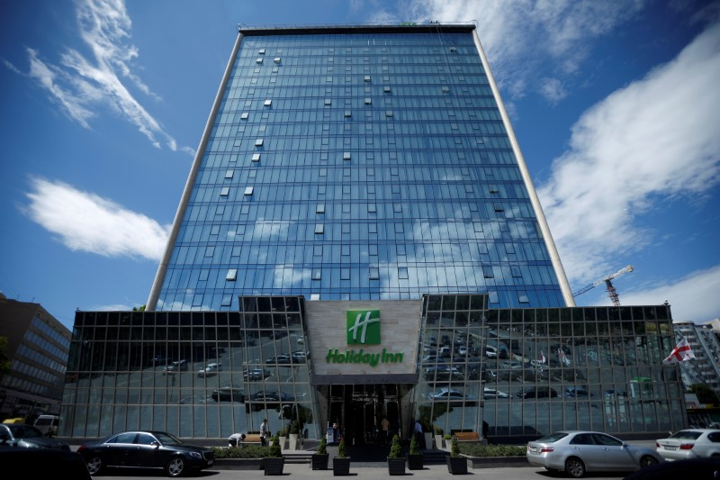 FILE PHOTO: Holiday Inn hotel is seen in Tbilisi