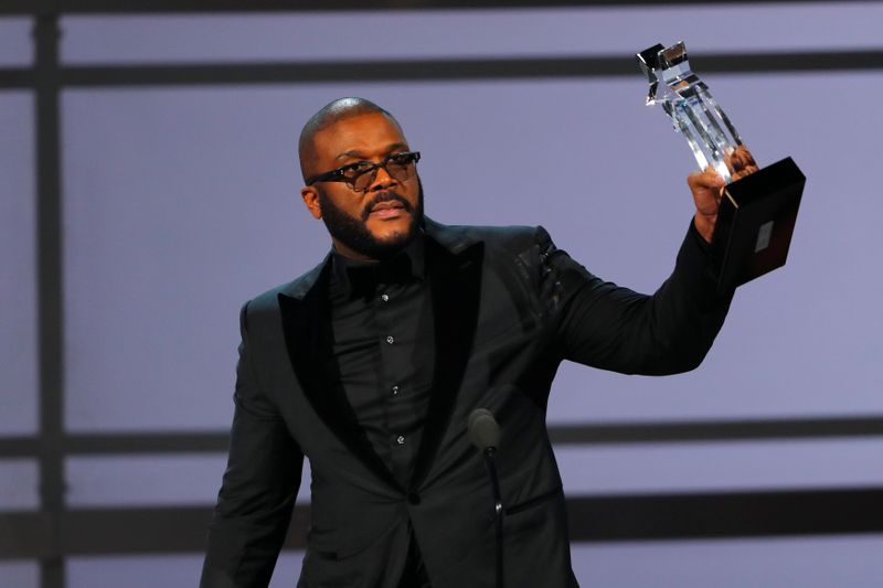 FILE PHOTO: Movie mogul Tyler Perry accepts the Ultimate Icon award at the 2019 BET Awards in Los Angeles, California