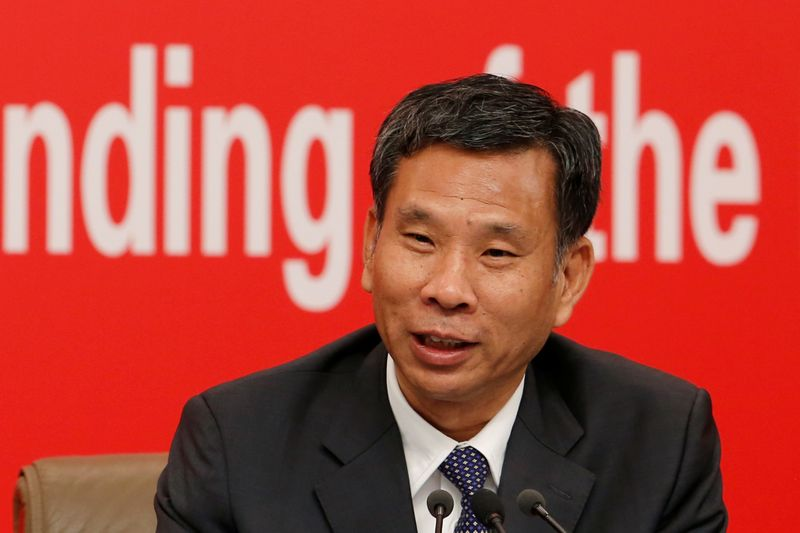 Chinese Finance Minister Liu Kun attends a news conference on China's economic development ahead of the 70th anniversary of its founding, in Beijing