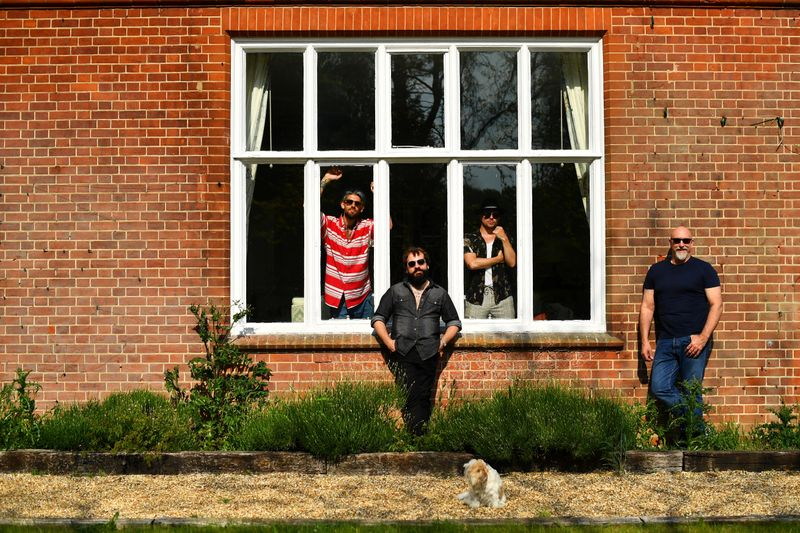 British rock band Sharpville Show isolate together with families and pets in Sheringham