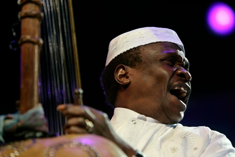 Malian singer Mory Kante performs during his concert in Mawazine Festival