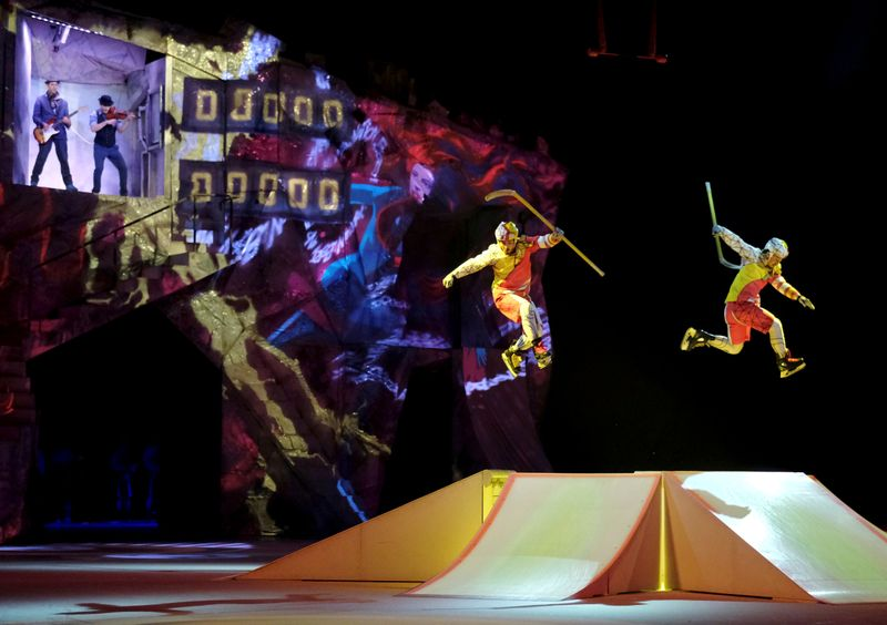 FILE PHOTO: Artists perform during Cirque du Soleil's Crystal show in Riga