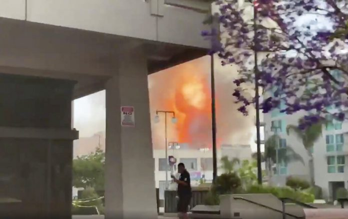 At least 10 firefighters injured after explosion in Downtown Los Angeles