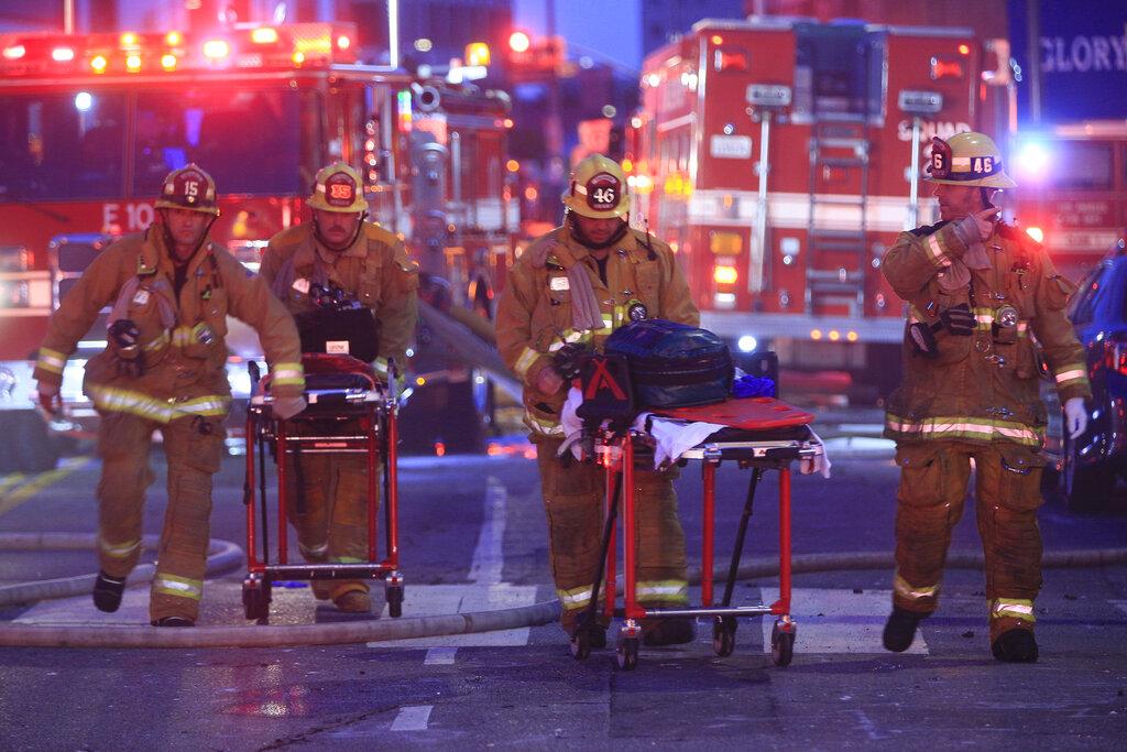 Breaking: Ten firefighters 'down' following Los Angeles 'explosion'