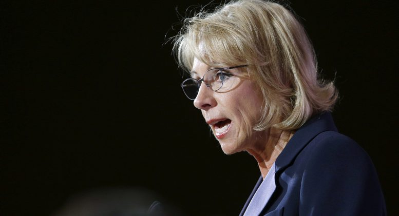 Betsy DeVos rolls back Obama-era guidance on campus sexual assault