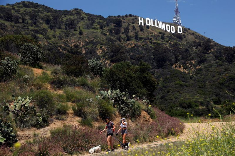 FILE PHOTO: Los Angeles hiking trails partially reopen during the global outbreak of the coronavirus disease (COVID-19)