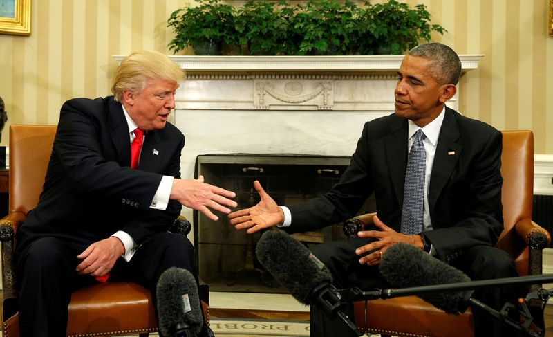 FILE PHOTO: Obama meets with Trump at the White House in Washington