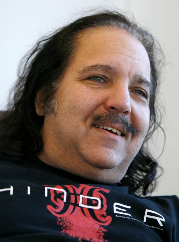 FILE PHOTO: Adult film star Ron Jeremy speaks during an interview with Reuters in New York
