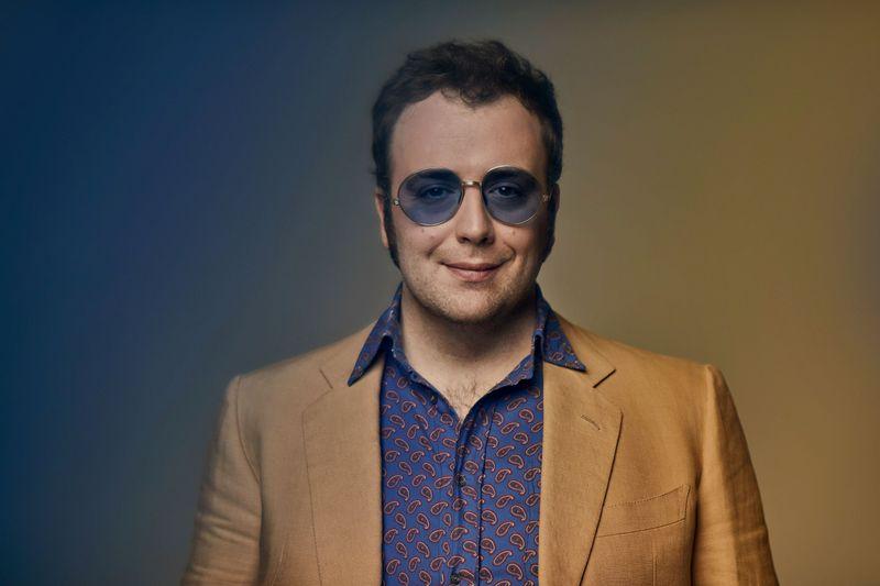 Italian pop-jazz artist, Raphael Gualazzi poses