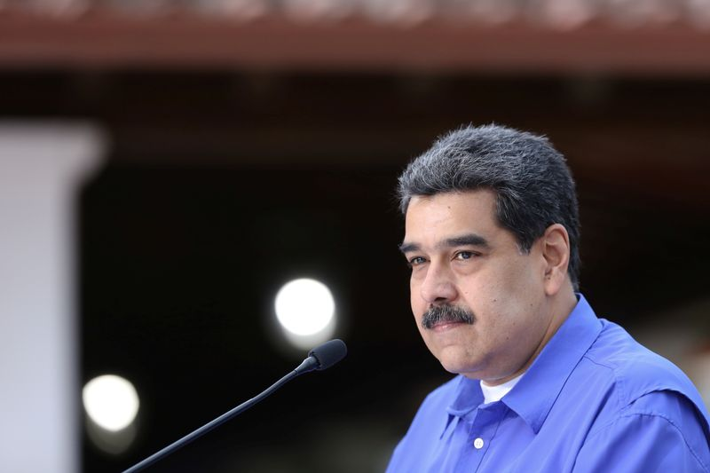 Venezuela's President Nicolas Maduro speaks during an event with the youth of Venezuela's United Socialist Party in Caracas