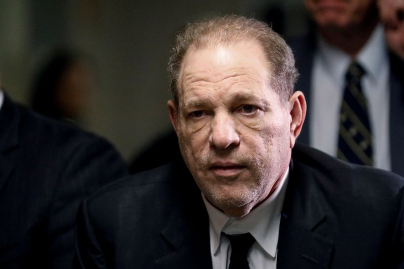 FILE PHOTO - Film producer Harvey Weinstein departs Criminal Court in New York