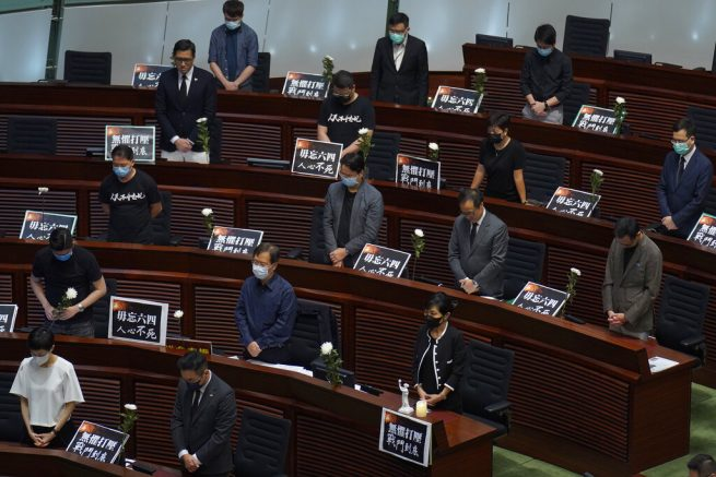 Hong Kong's legislature disrupted over national anthem bill