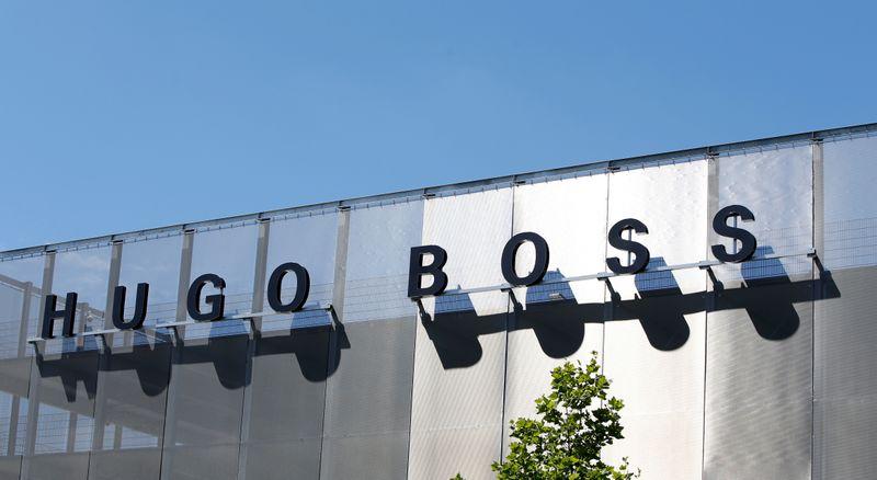 FILE PHOTO: The Hugo Boss logo is seen in Metzingen