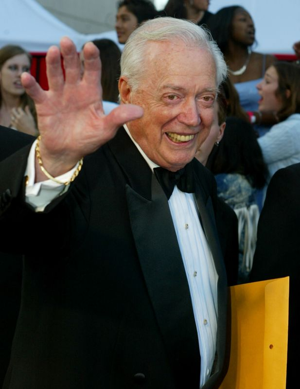 FILE PHOTO: HUGH DOWNS ARRIVES AT ABC 50TH ANNIVERSARY.