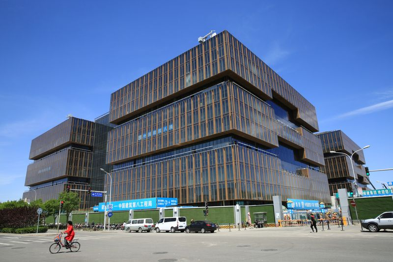 FILE PHOTO:  The headquarters of Asian Infrastructure Investment Bank (AIIB) is seen under construction in Beijing