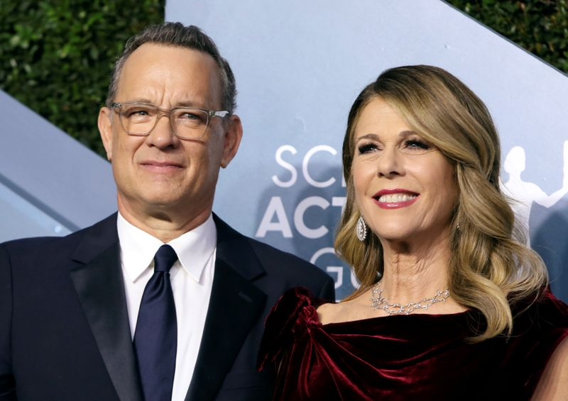FILE PHOTO: 26th Screen Actors Guild Awards – Arrivals – Los Angeles, California, U.S., January 19, 2020 – Tom Hanks and Rita Wilson