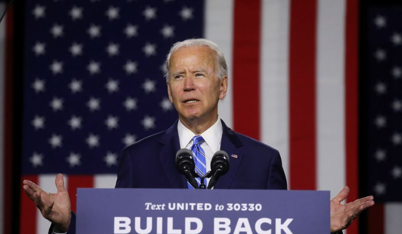 FILE PHOTO: Democratic U.S. presidential candidate Biden speaks about climate change at campaign event in Wilmington, Delaware