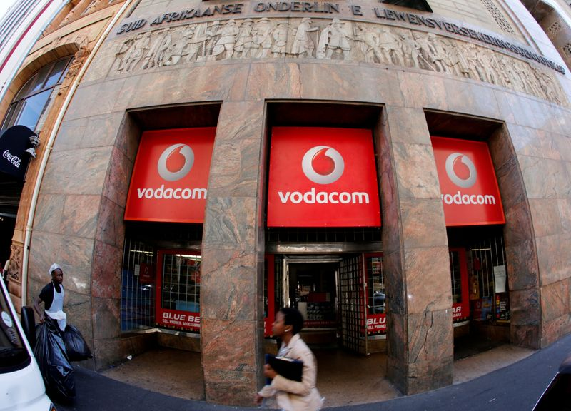 A branch of South African mobile communications provider Vodacom in Cape Town