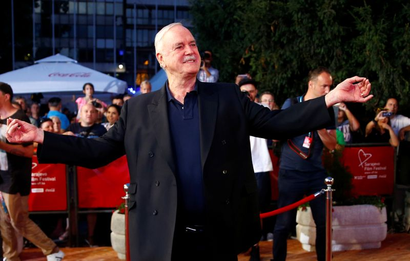 FILE PHOTO: British actor John Cleese is pictured on the red carpet during the 23rd Sarajevo Film Festival in Sarajevo
