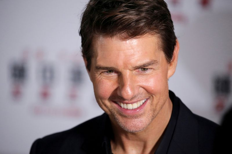 FILE PHOTO: Cast member Tom Cruise attends a news conference promoting his upcoming film