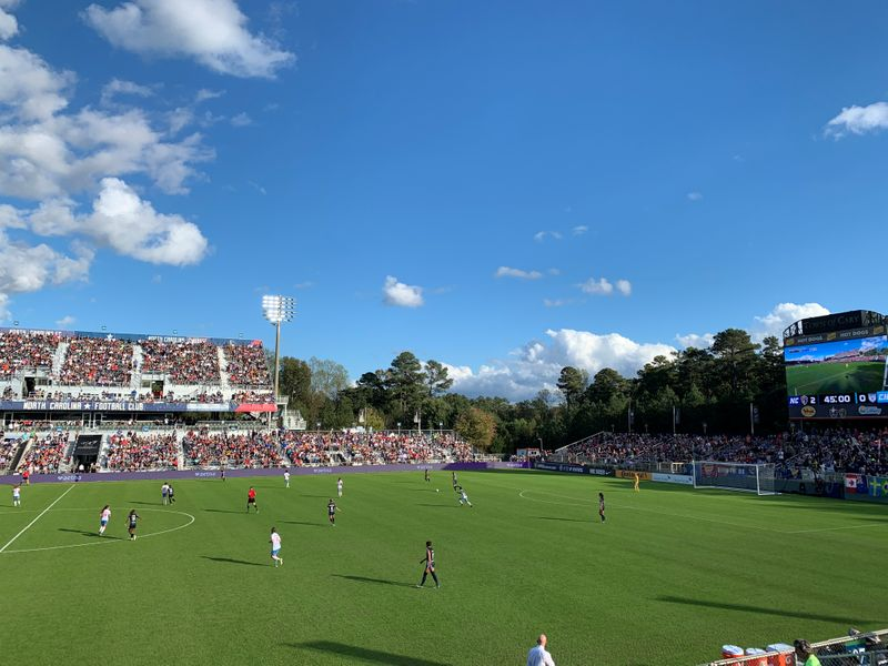 The North Carolina Courage and the Chicago Red Stars compete in the National Women's Soccer League (NWSL) championship in Cary
