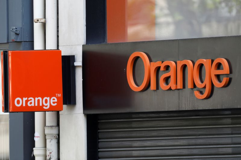 Logo of French telecoms operator Orange