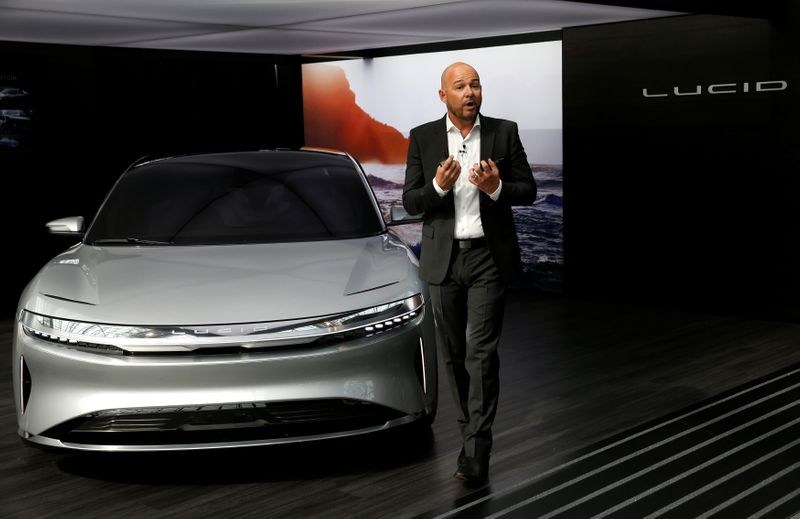 FILE PHOTO: Lucid Air prototype introduced at the 2017 New York International Auto Show in New York