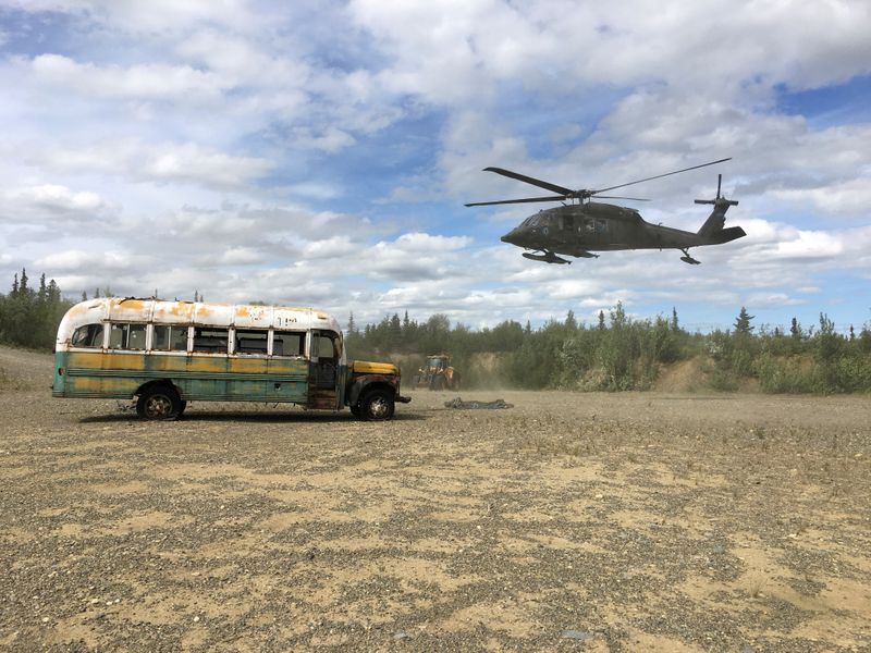 FILE PHOTO: Alaska Army National Guard helicopter hovers near